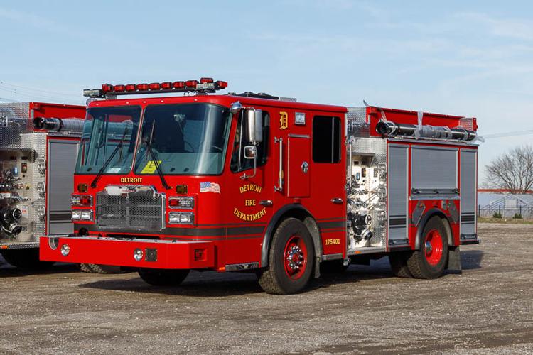 Detroit MI Fire Department New Ferrara Pumpers