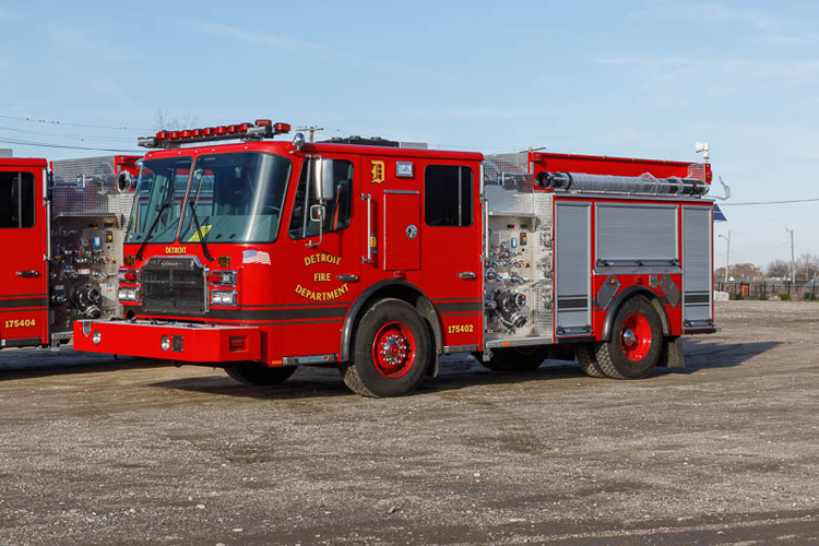 Detroit MI Fire Department New Ferrara Pumpers
