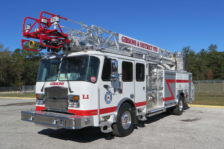 Gibsons & District (BC) Volunteer Fire Department E-ONE HP 78 Quint