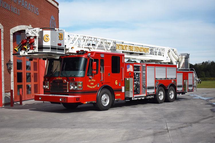 Detroit MI Fire Department Ferrara Aerial