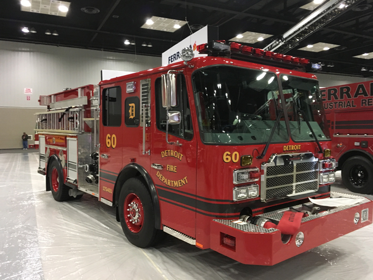 E-ONE, Ferrara, and KME Rigs at FDIC International 2018